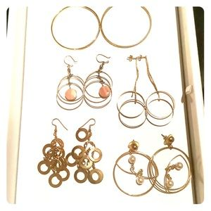 Jewelry - 💜3/30 Circle Collection Earrings 5 pairs